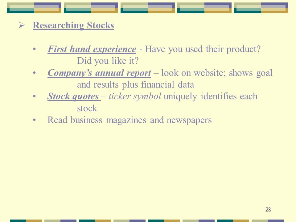 Researching Stocks First hand experience - Have you used their product Did you like it