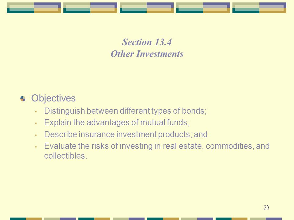 Section 13.4 Other Investments Objectives
