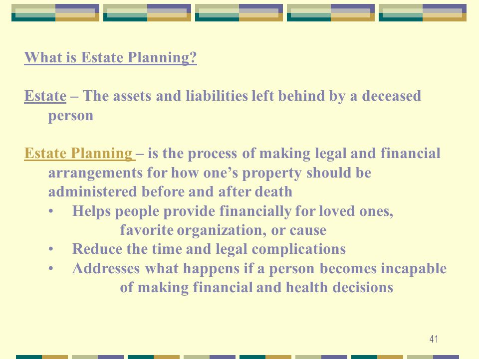 What is Estate Planning