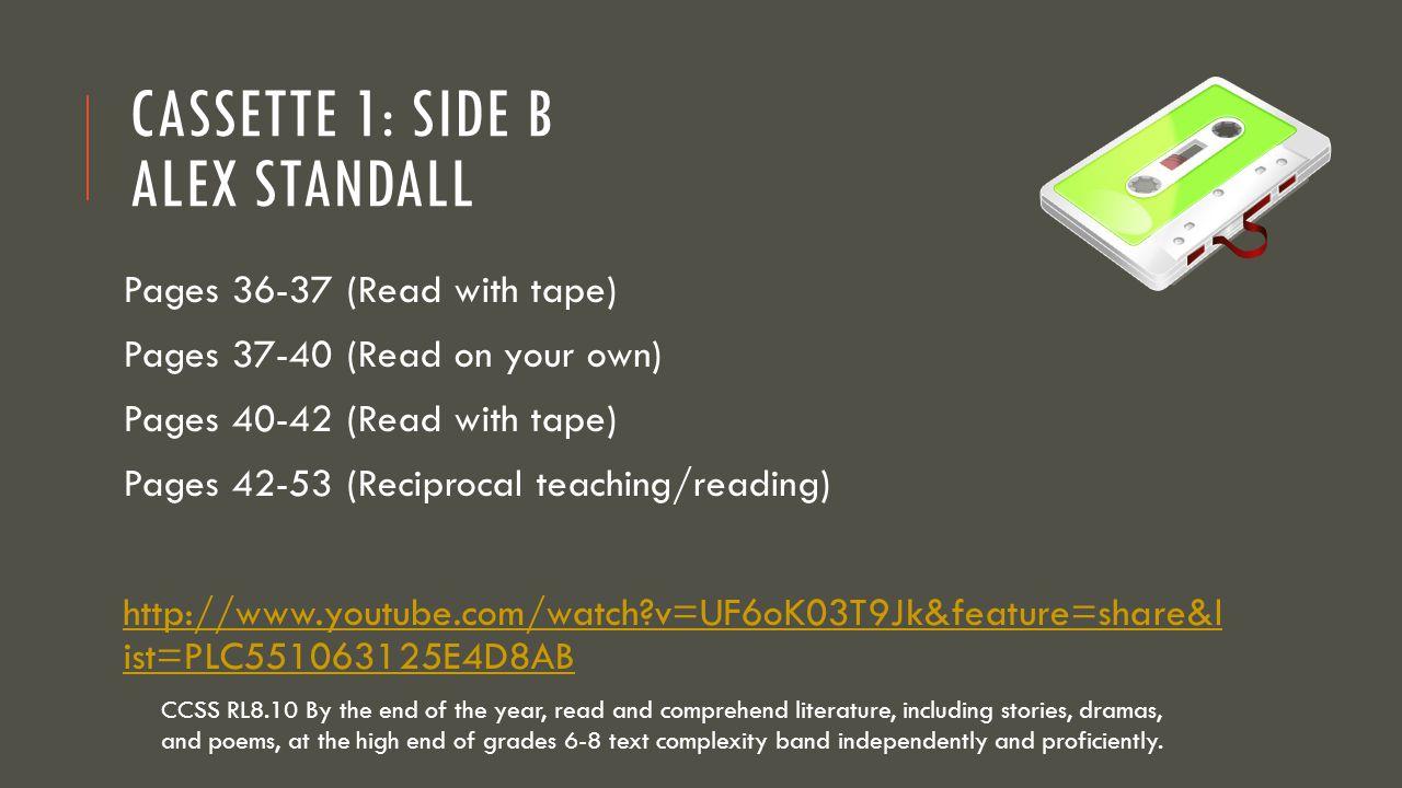 Cassette 1: Side B Alex Standall