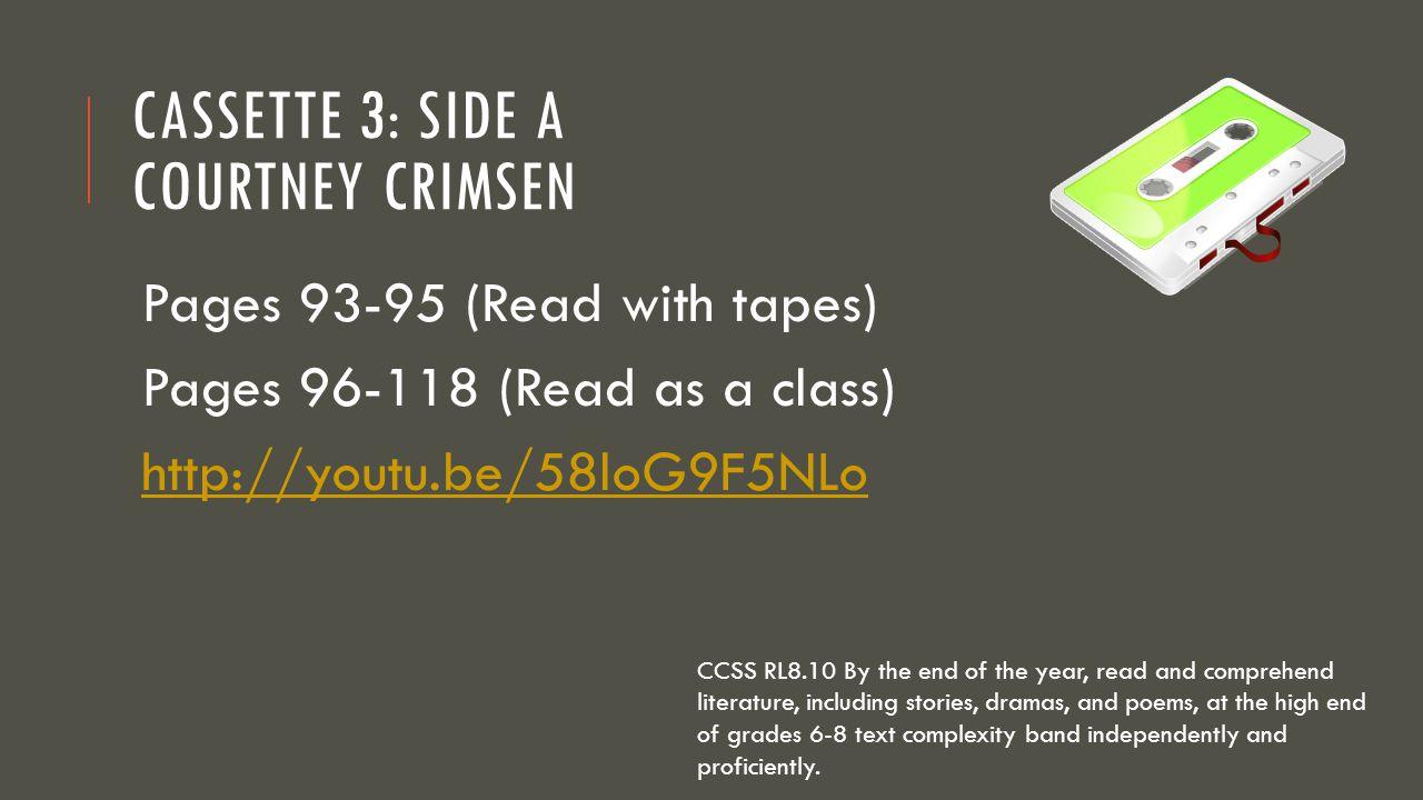 Cassette 3: Side A Courtney Crimsen