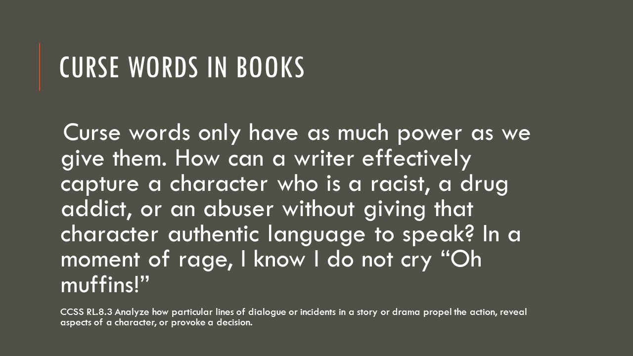 Curse Words in Books