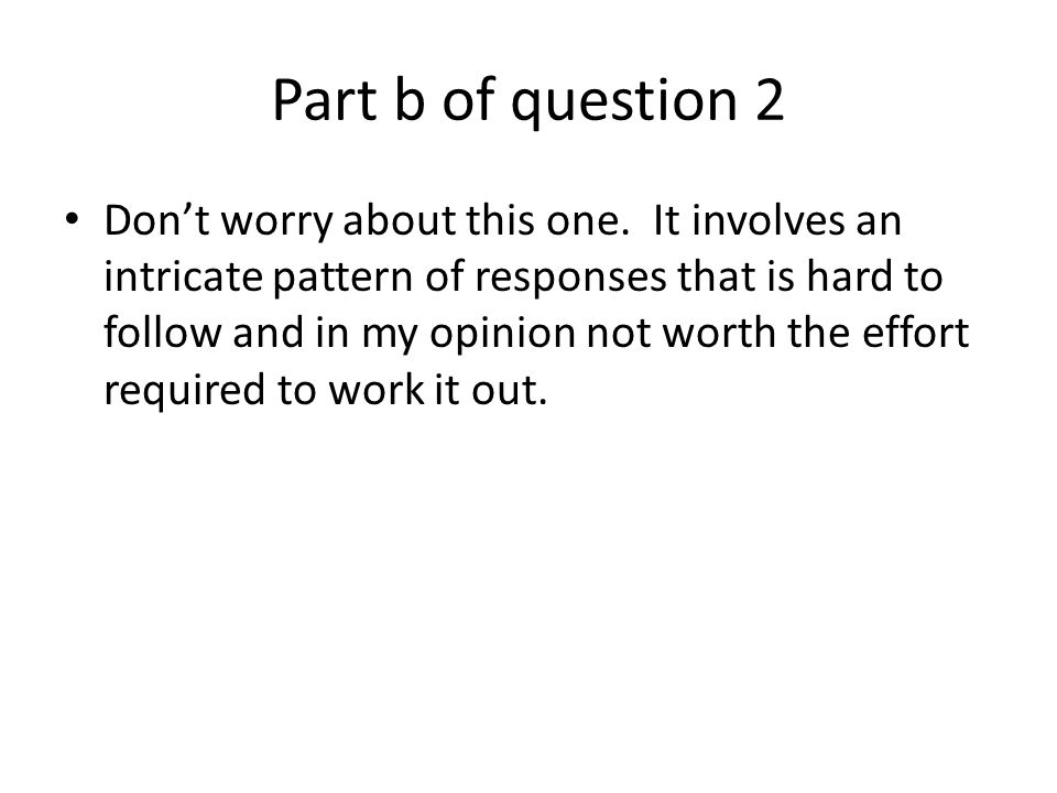 Part b of question 2