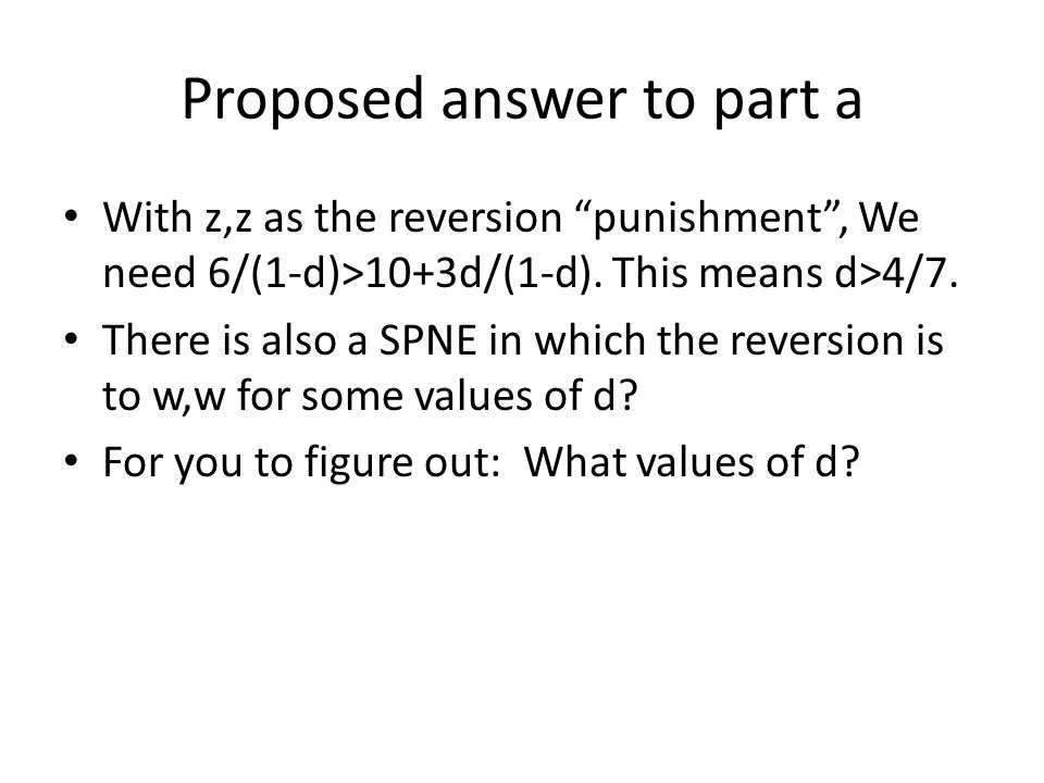 Proposed answer to part a