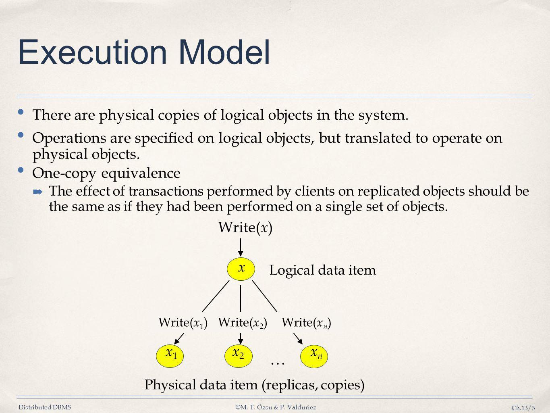Physical data item (replicas, copies)