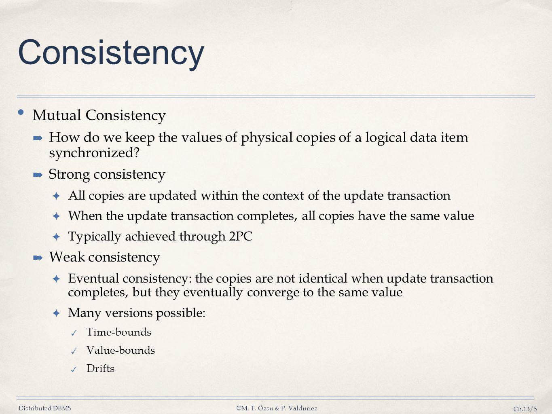 Consistency Mutual Consistency