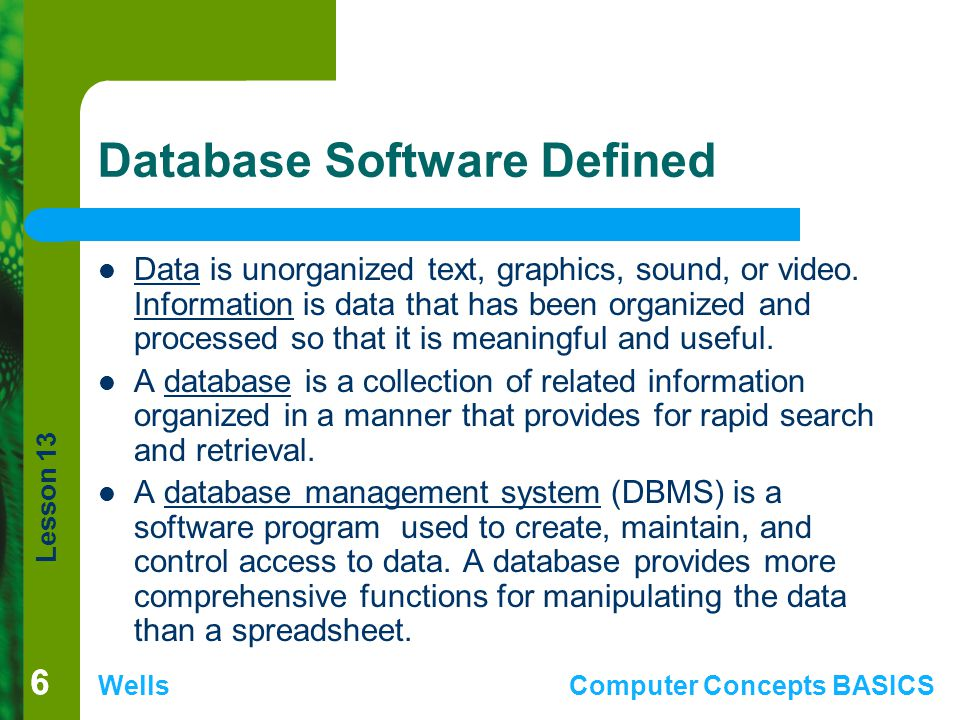 Database Software Defined