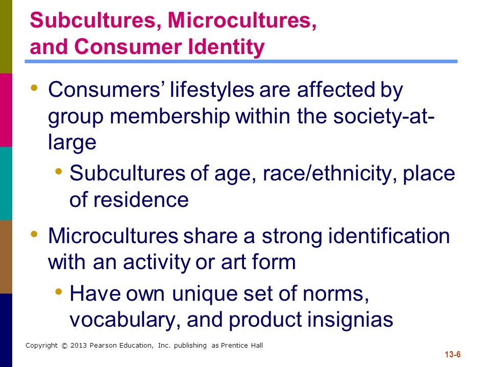 Subcultures, Microcultures, and Consumer Identity