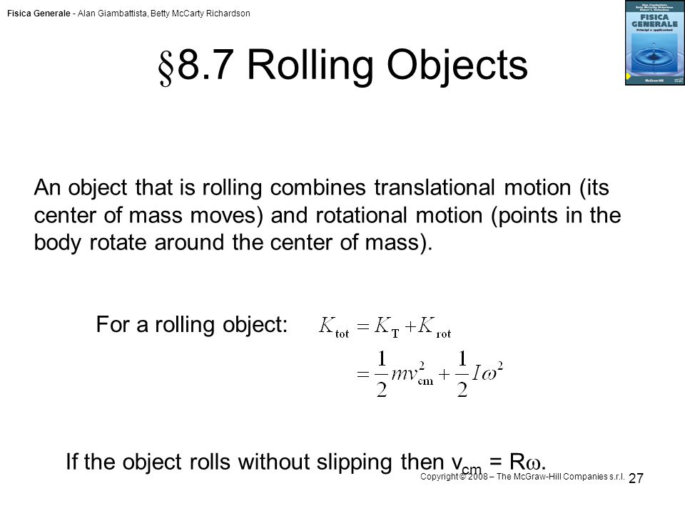 §8.7 Rolling Objects
