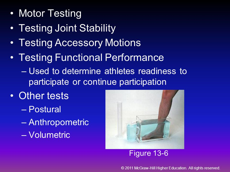 Testing Joint Stability Testing Accessory Motions