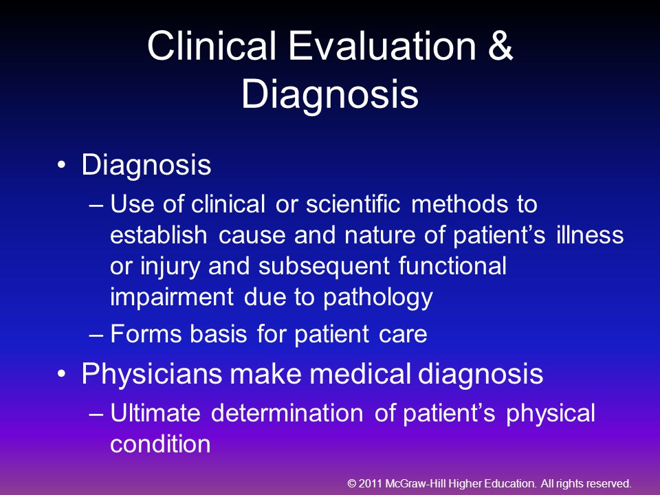 Clinical Evaluation & Diagnosis