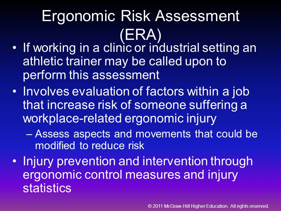 Ergonomic Risk Assessment (ERA)