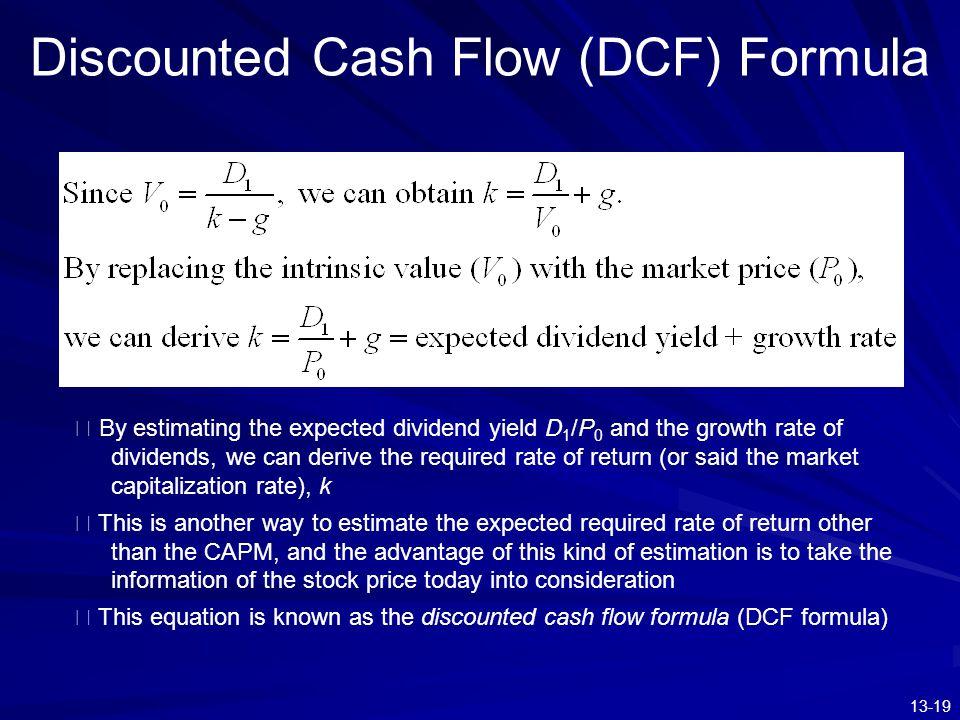Discounted Cash Flow (DCF) Formula