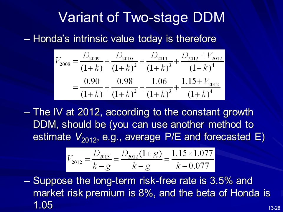 Variant of Two-stage DDM