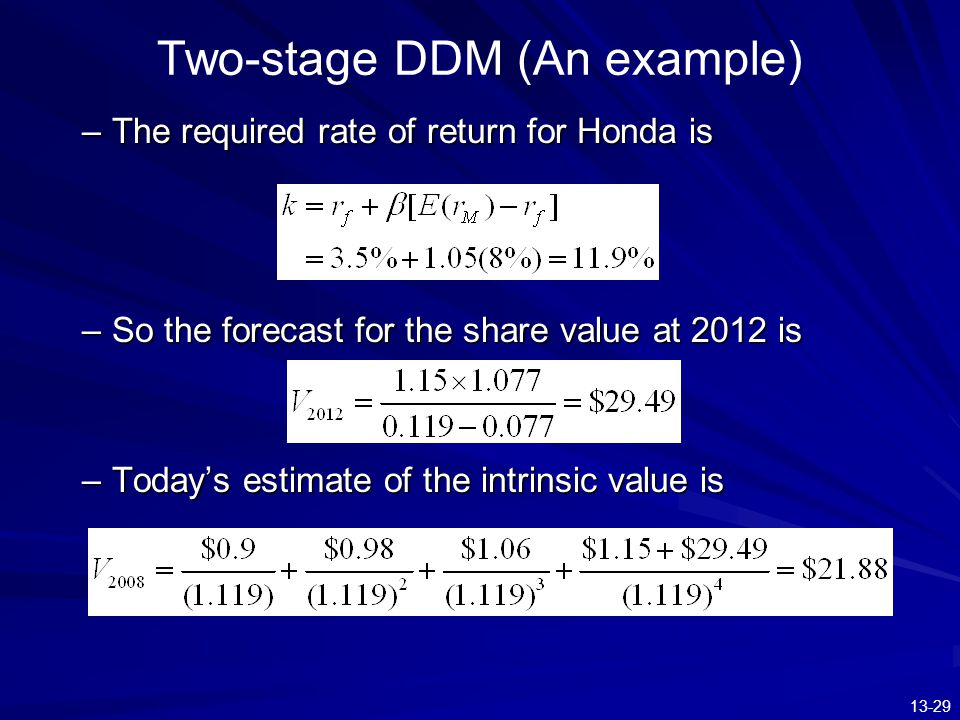 Two-stage DDM (An example)