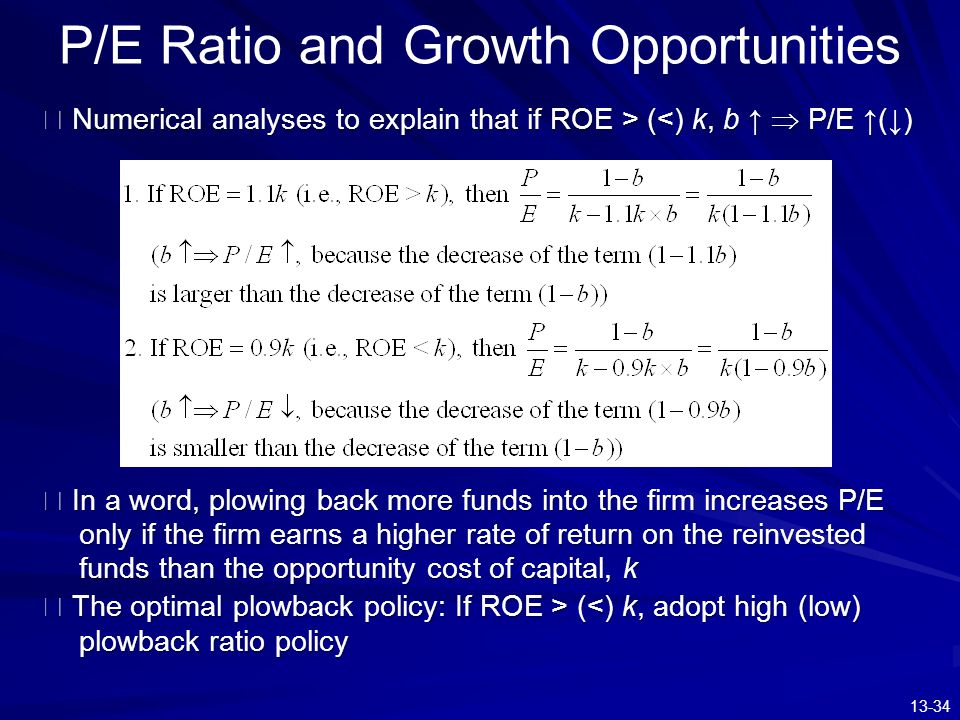 P/E Ratio and Growth Opportunities