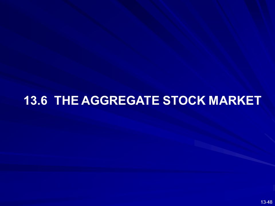 13.6 THE AGGREGATE STOCK MARKET