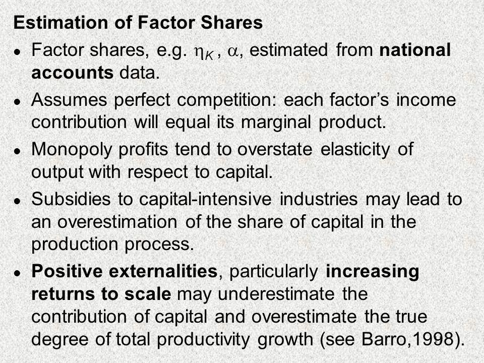 Estimation of Factor Shares