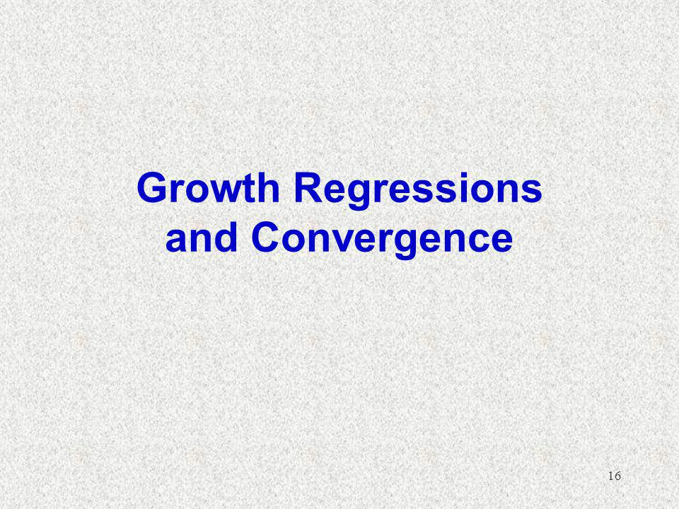 Growth Regressions and Convergence