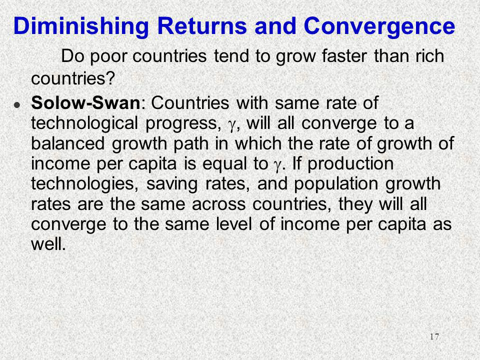 Diminishing Returns and Convergence