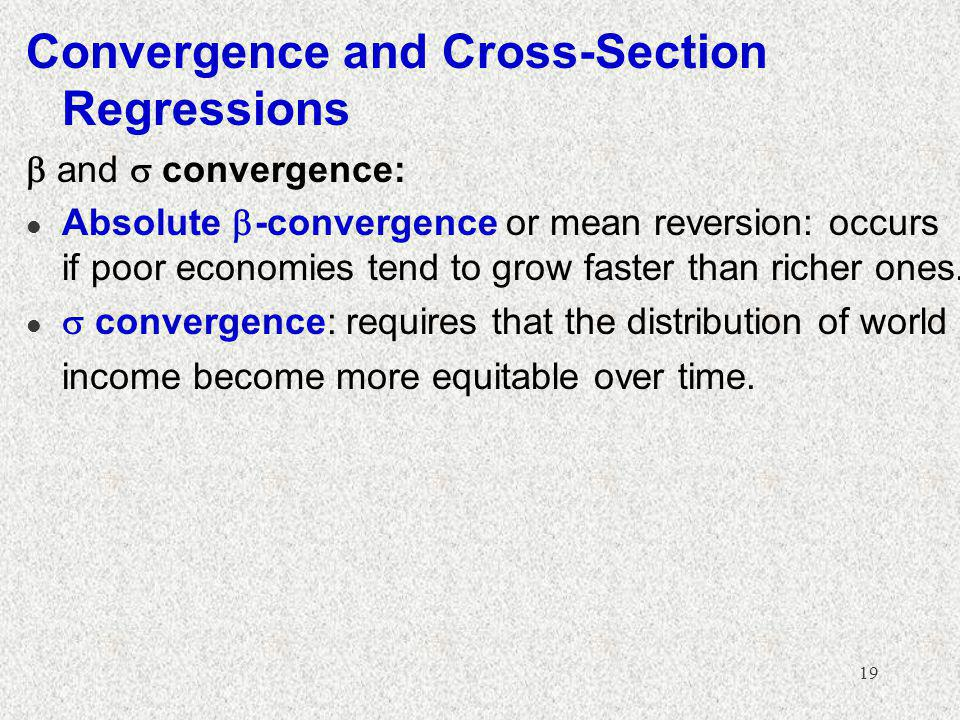 Convergence and Cross-Section Regressions