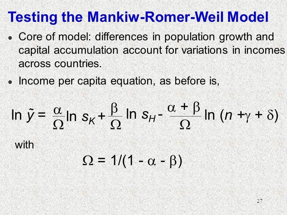 Testing the Mankiw-Romer-Weil Model