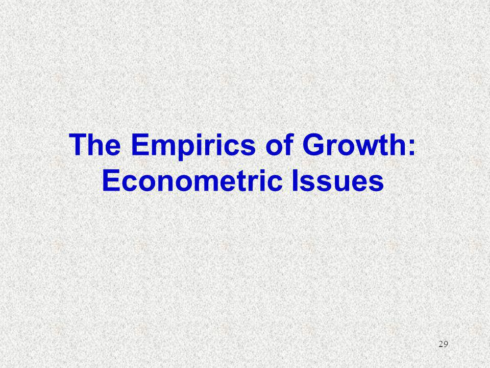 The Empirics of Growth: Econometric Issues