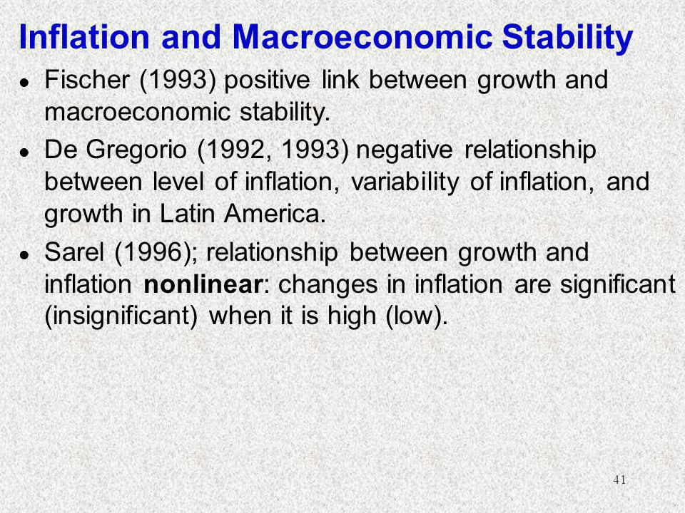 Inflation and Macroeconomic Stability