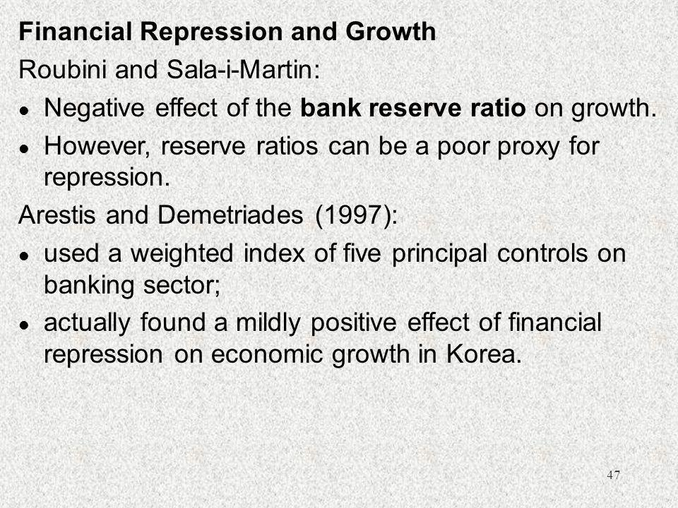 Financial Repression and Growth