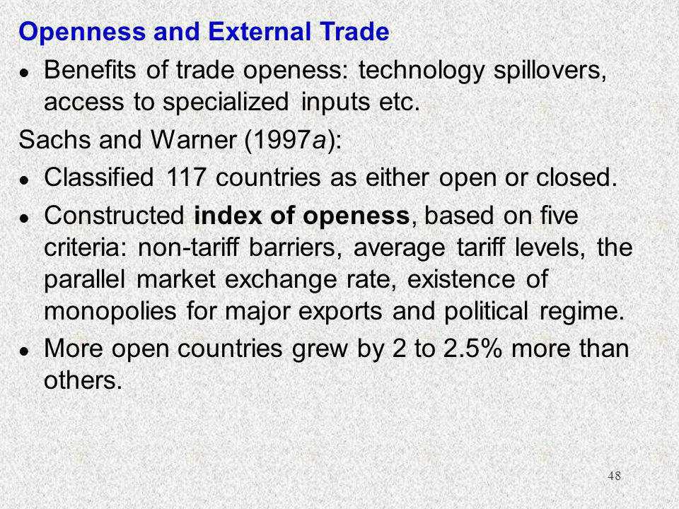Openness and External Trade