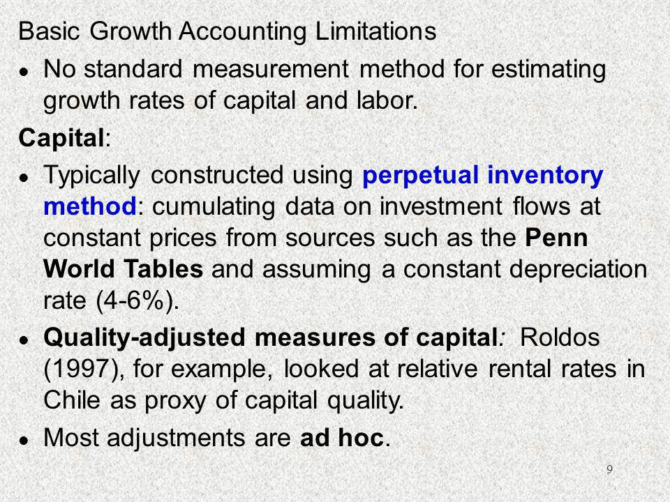 Basic Growth Accounting Limitations