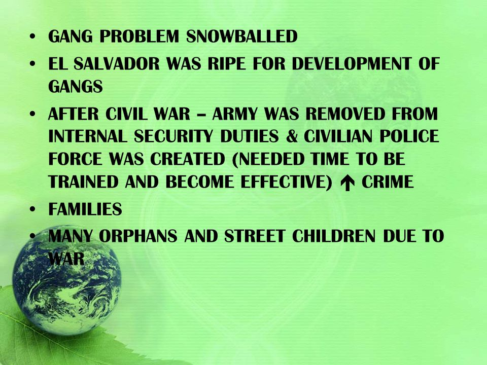 Gang problem snowballed