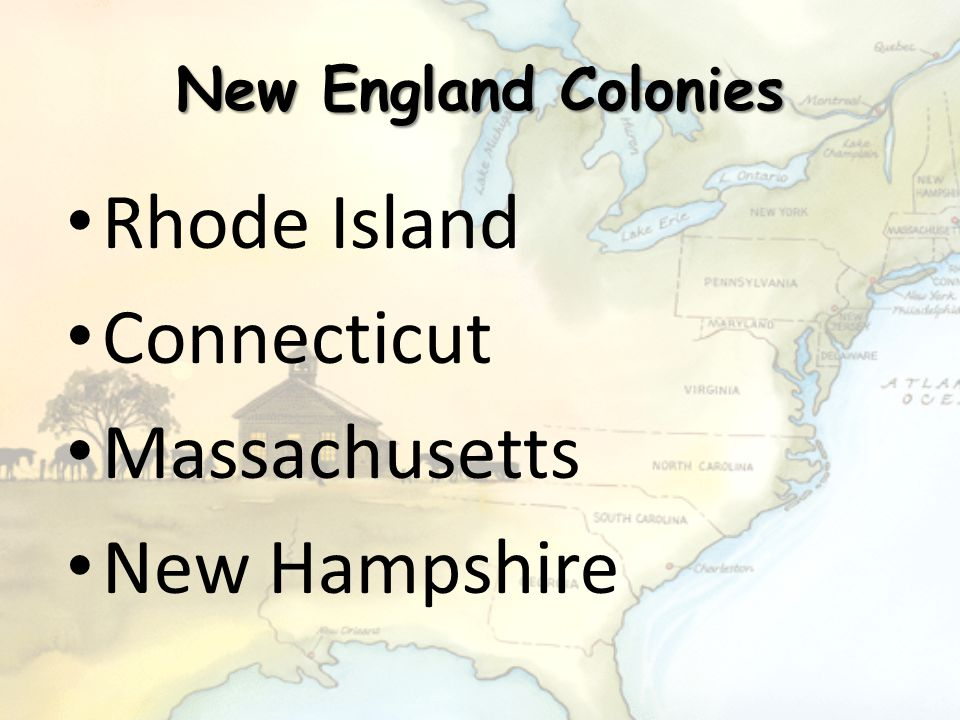 Rhode Island Connecticut Massachusetts New Hampshire