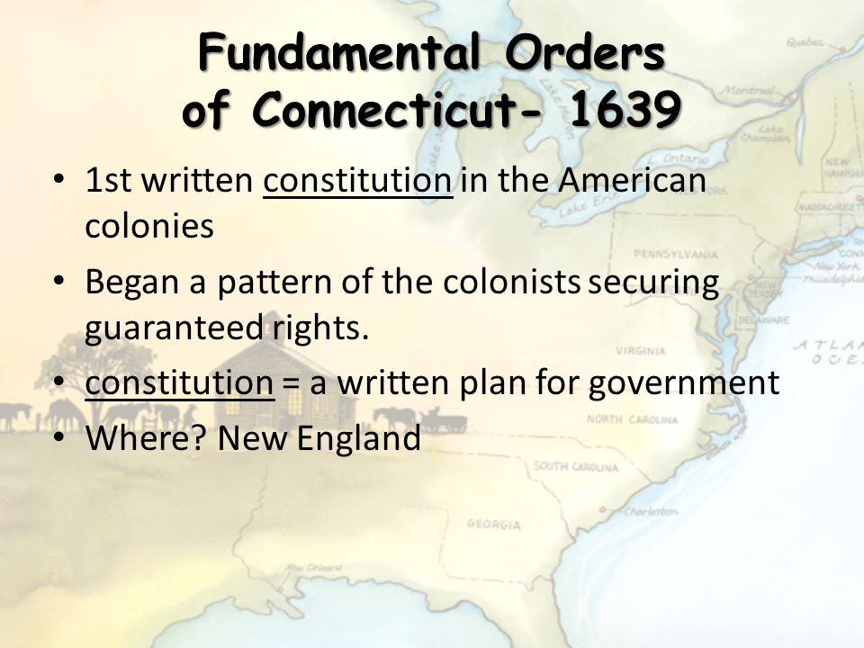 Fundamental Orders of Connecticut- 1639