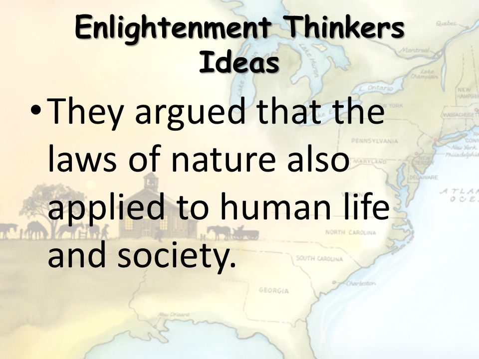 Enlightenment Thinkers Ideas