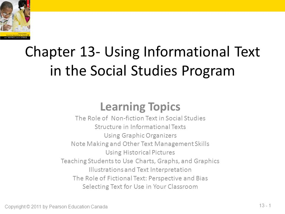 Chapter 13- Using Informational Text in the Social Studies Program