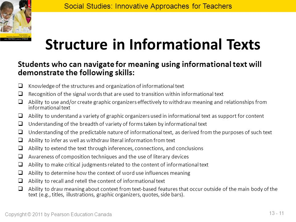 Structure in Informational Texts