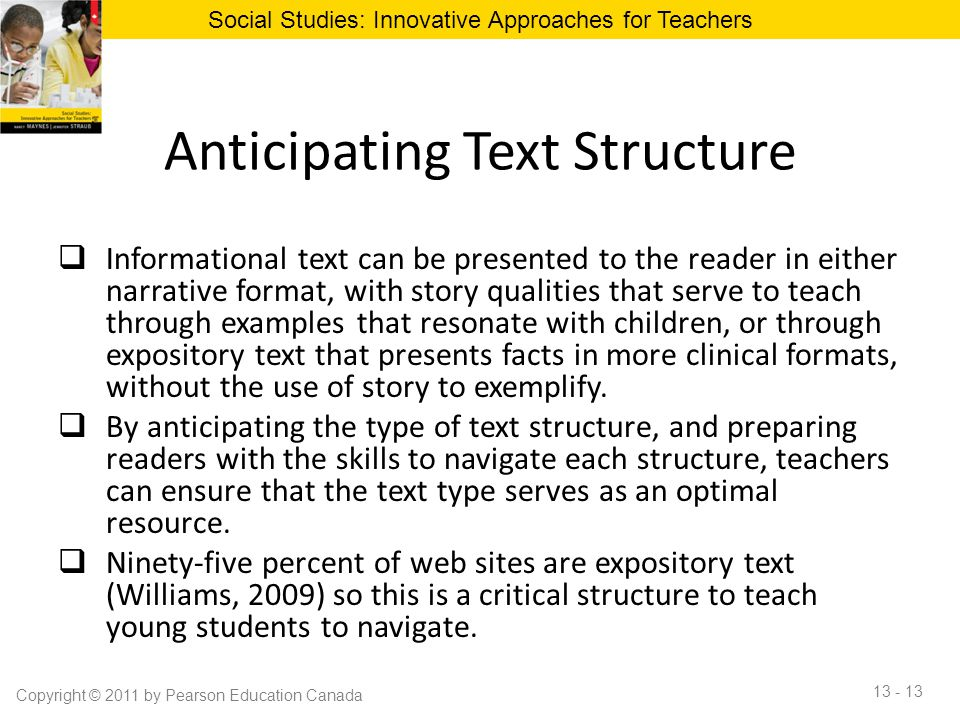 Anticipating Text Structure
