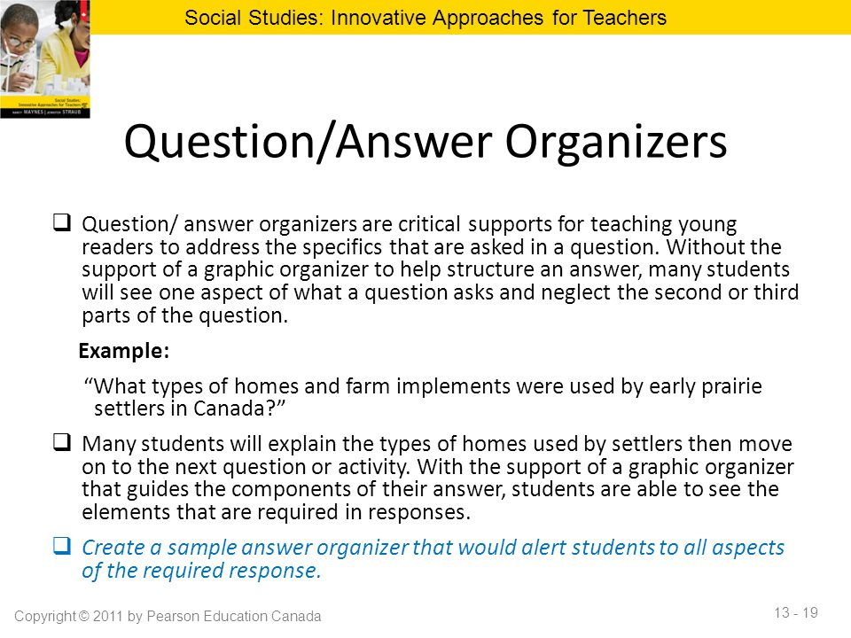 Question/Answer Organizers