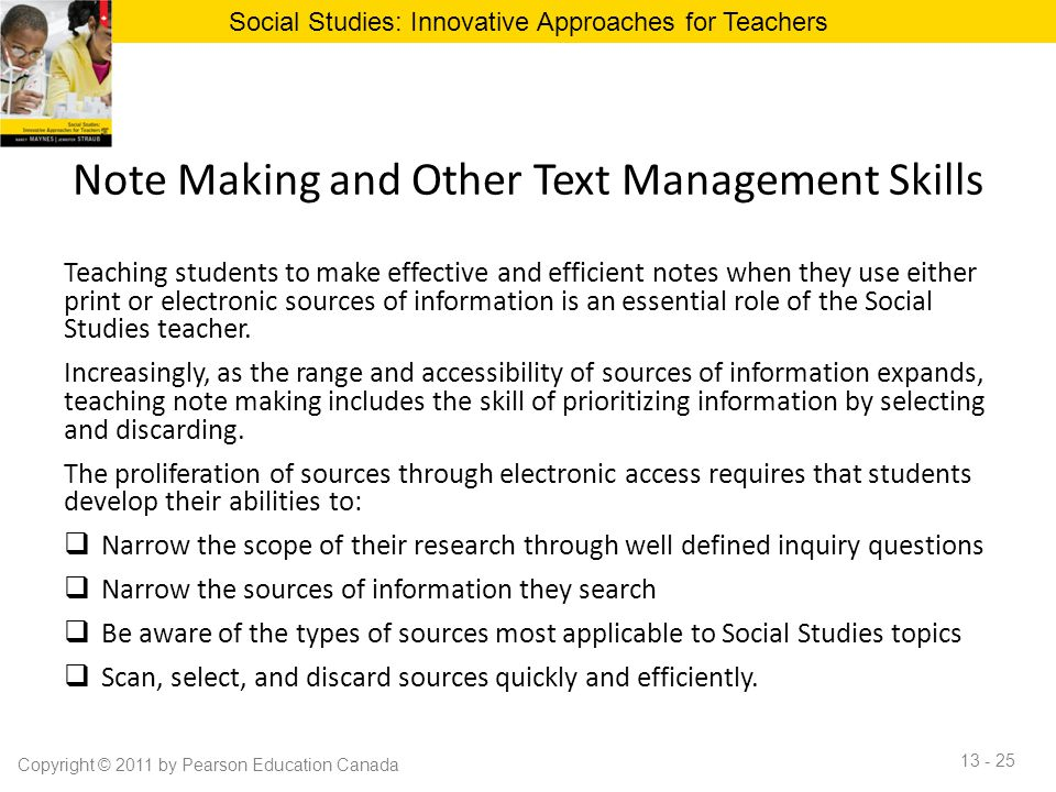Note Making and Other Text Management Skills