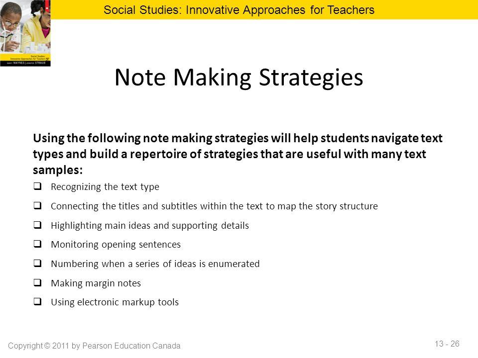 Note Making Strategies