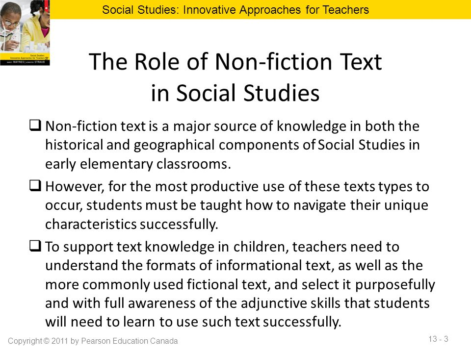 The Role of Non-fiction Text in Social Studies