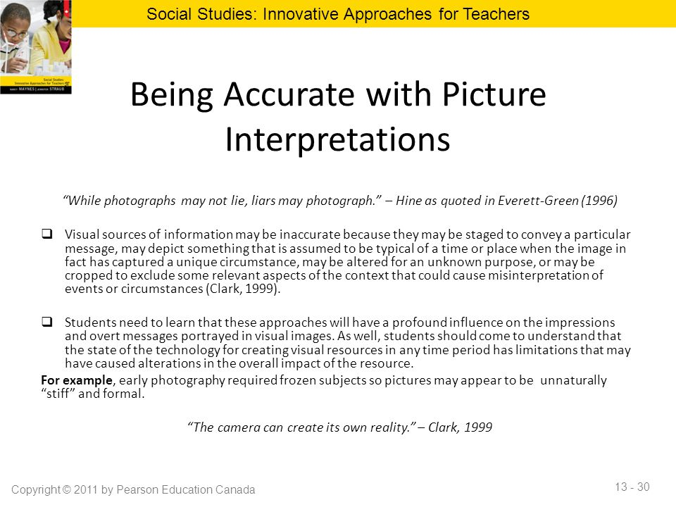 Being Accurate with Picture Interpretations