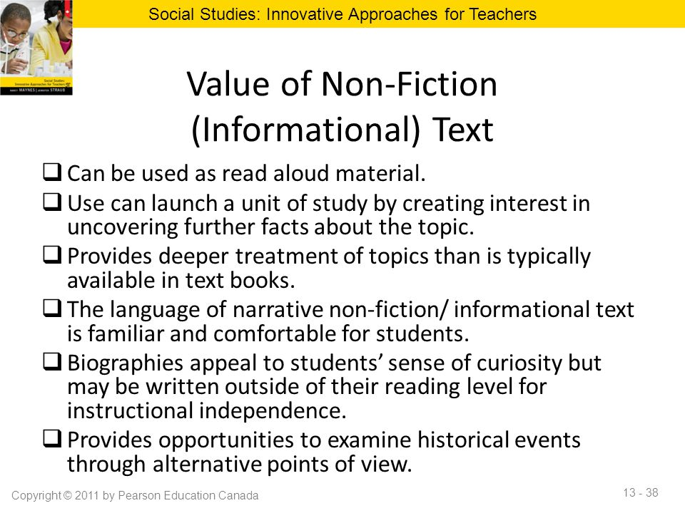 Value of Non-Fiction (Informational) Text
