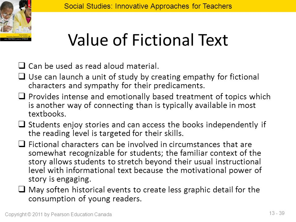 Value of Fictional Text