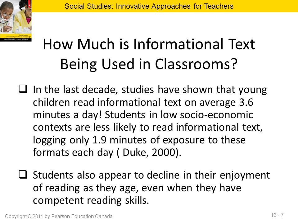 How Much is Informational Text Being Used in Classrooms