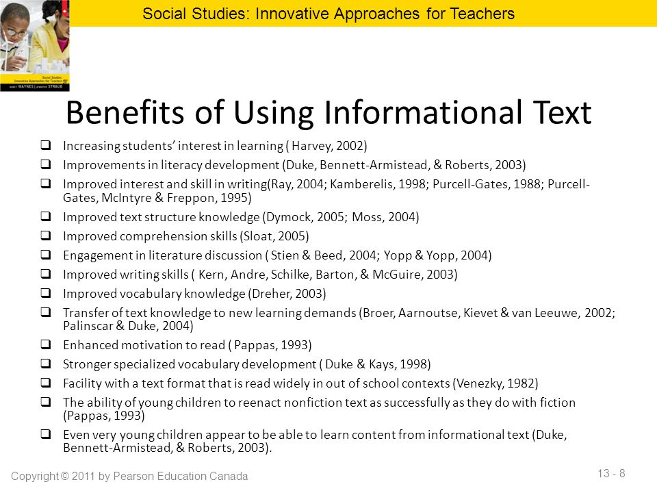 Benefits of Using Informational Text