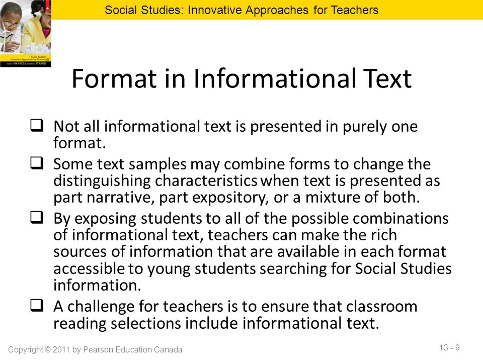 Format in Informational Text