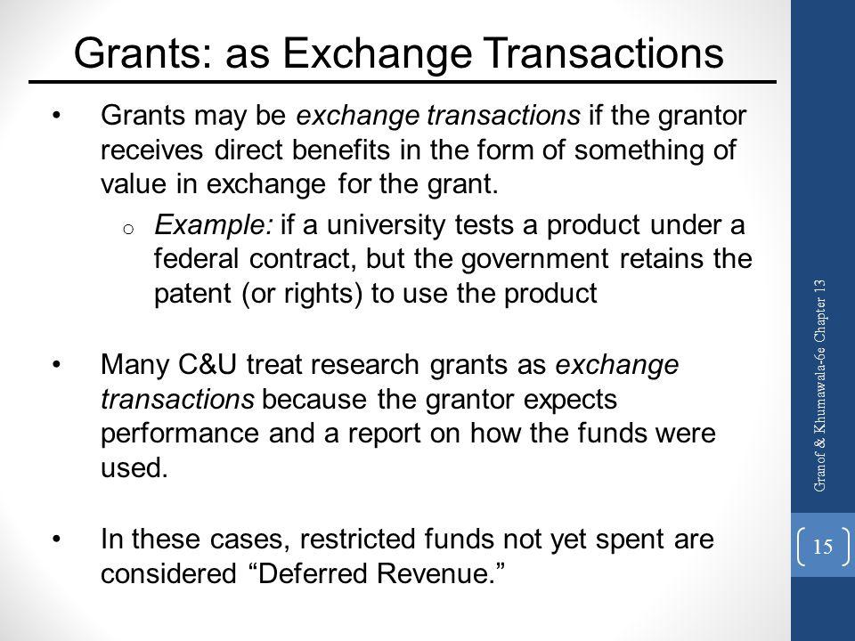 Grants: as Exchange Transactions