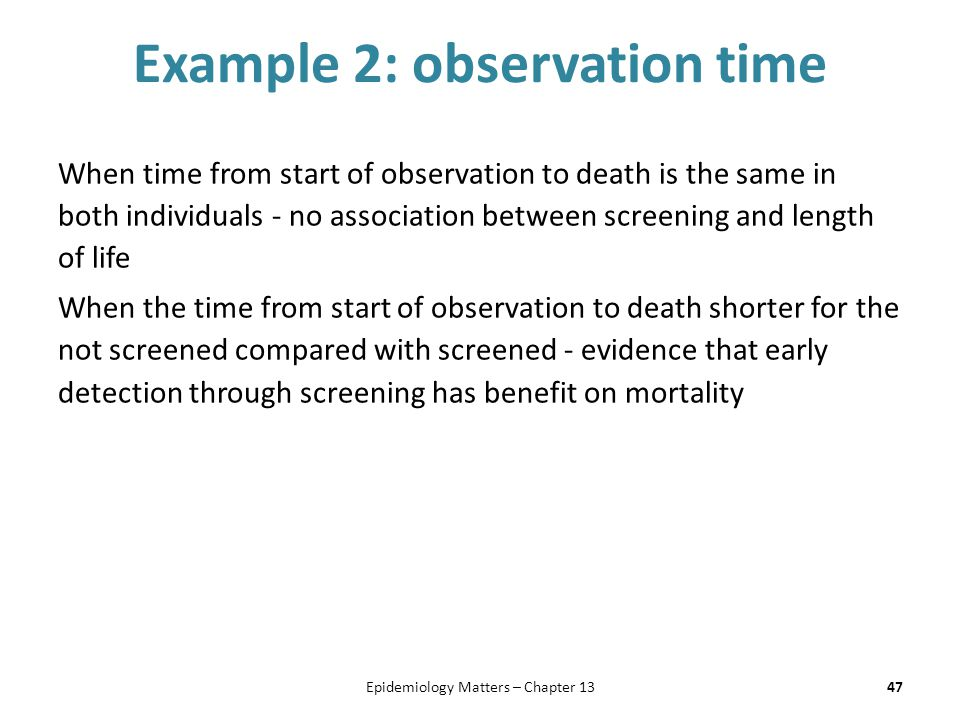 Example 2: observation time